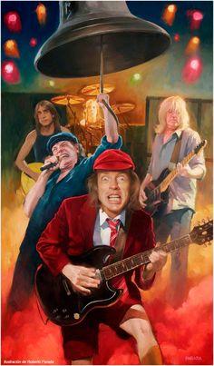 AC DC rock n roll dream by tacosfever Rock N Roll, Pop Rock, Hard Rock, The Beatles, Ac Dc Band, Ac Dc Rock, Heavy Metal Rock, Rock Posters, Rock Legends