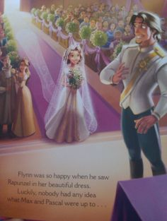 Doesnt Flynn look even more handsome in white than blue! From Tangled Ever After storybook.