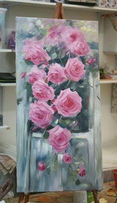 Modern Art a Conspiracy Theory – Buy Abstract Art Right Art Floral, Flower Canvas, Flower Art, Art Flowers, Pinterest Pinturas, Rose Oil Painting, Abstract Flowers, Abstract Art, Canvas Wall Art