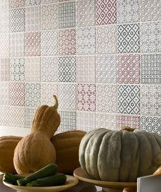 Batik Patchwork Green Tile | Topps Tiles