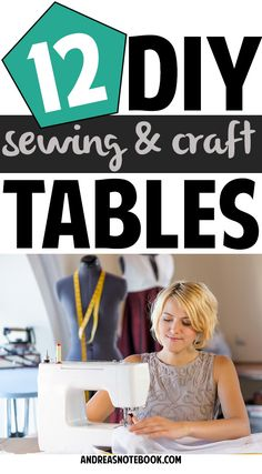 Craft room organization - 12 DIY sewing and craft table tutorials. The hidden wall table for small space would make a nice addition to my office.