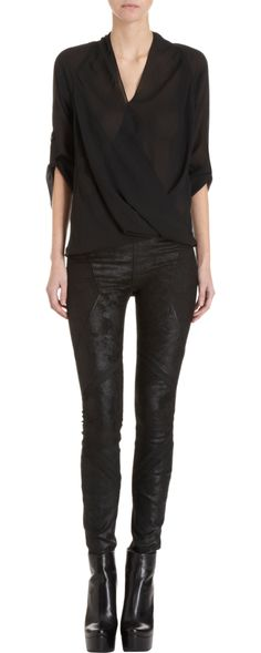 Can't it be in five different colors! fave.  Helmut Lang Lyra Twist Top