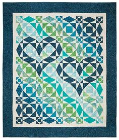 Our Hearts Will Go On Quilt Pattern, Blue