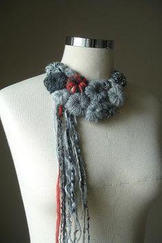 Fiberart Crochet Necklace Love in The City By by crochetlab, $38.00
