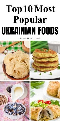 Top 10 Most Popular Ukrainian Foods Ukrainian foods belong to the Eastern European cuisine. Ukrainian borscht, varenyky, and salo might be familiar to many of you. The top 10 dishes you will experience in any part of Ukraine, on weekdays and holidays . Ukrainian Desserts, Ukrainian Recipes, Russian Recipes, Ukrainian Food, Lithuanian Recipes, Eastern European Recipes, European Cuisine, Eastern Cuisine, Ukraine