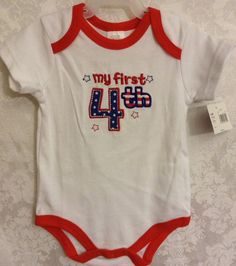 My First 4th Of July Infant One Piece Romper Size 6-9 Months Red White Blue NWT   Clothing, Shoes & Accessories, Baby & Toddler Clothing, Girls' Clothing (Newborn-5T)   eBay!