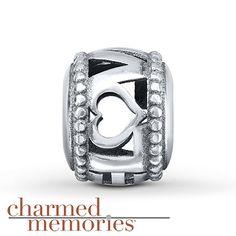 Charmed Memories Love Charm Sterling Silver