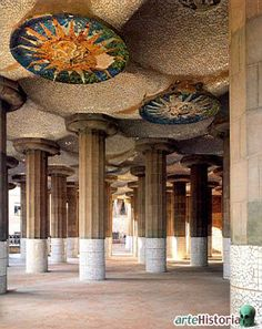 one of my fav places i have ever been Parque Guell, Barcelona, Spain  Room of a Hundred Columns