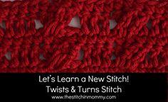 Twists and Turns Crochet Stitch Tutorial