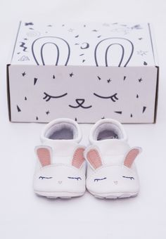 Cute rabbit soft sole baby shoes for toddlers by First Baby Shoes