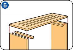Eine Heizkörperverkleidung bauen - Obere Platte an Seitenteilen befestigen