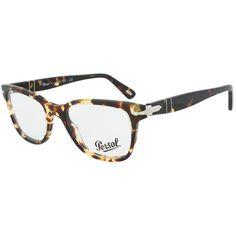 c0c66c6a242 Persol PO3003V 985 Wayfarer Dark Havana Eyeglass Frames ( 99) ❤ liked on  Polyvore featuring accessories