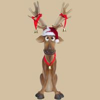 Funny Reindeer Sitting 3FT  Welcome a new member to our Christmas family.