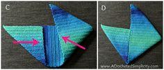 Free Crochet Pattern – Cool Stripes Bag – A Crocheted Simplicity – ÇANTA – Kreativ Crochet Purse Patterns, Bag Patterns To Sew, Crochet Handbags, Crochet Purses, Crochet Gratis, Free Crochet, Striped Bags, Yarn Stash, Running Stitch