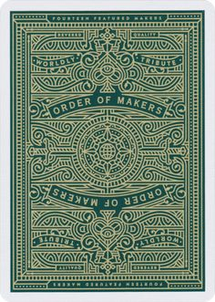 Luxury playing cards made true by The D&D Playing Card Co. MAKERS are the most intricate and luxurious deck in their catalogue. Line Illustration, Graphic Design Illustration, Illustrations, Line Art, Playing Cards Art, Playing Card Design, Cartomancy, Art Deco, Blacksmithing