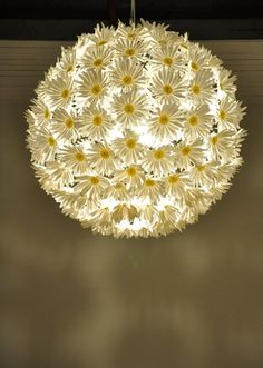 How cute would this daisy pendant lamp be in a girl's room. Ooh-la-la! But, it's pretty pricy.