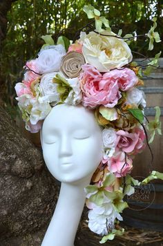 Floral Fairy Headdress by ScarletHarlow on Etsy