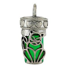 Perfect Memorials Cat Green Glass Cremation Jewelry -- Details can be found by clicking on the image.