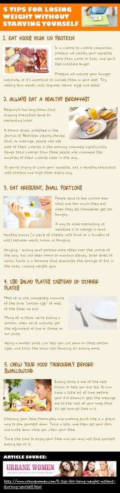 5 Tips For Losing Weight Without Starving Yourself  [Infographic]
