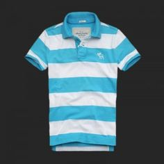Abercrombie Fitch Men Polo Stripe Shirts Skyblue White2 Stripe Shirts, Jean Shirts, Abercrombie Fitch, Menswear, Polo, Hoodies, Guys, Mens Tops, T Shirt