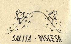 Italian Language ~  Salita, discesa (Uphill & Downhill)