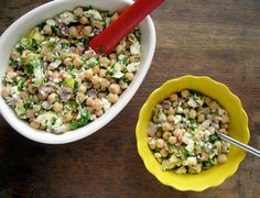Chickpea & Feta Salad from Kitchenist