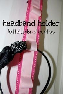 headband holder to go with hairclip holder
