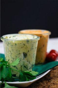 Mediterrane Tomatenbutter & Senf Kräuterbutter Rezept