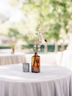 Today's beautiful bride is the owner of her own floral design company, Willow & Magnolia Floral . So, when it came time to designing the blooms for her own wedding day… she knew _exactly _what she. Cocktail Table Decor, Cocktail Tables, Boho Wedding, Wedding Day, Linen Rentals, Bud Vases, Beautiful Bride, Vineyard, Floral Design