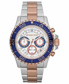 price 299 99 watches rotary egs0005 tz2 03 04 rotary gents michael kors watch men s chronograph everest two tone stainless steel bracelet 38mm mk5794