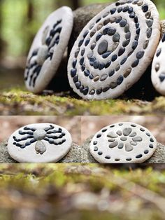 "Nature Crafts - love this pebble ""plaque"" made with salt dough and pebbles. Nature Activities, Activities For Kids, Crafts For Kids, Arts And Crafts, Forest School, Camping Crafts, Salt Dough, Nature Crafts, Art Nature"