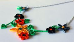 Antique Paper Quilling Jewelry in Black and by SparklingQueenz, $25.00