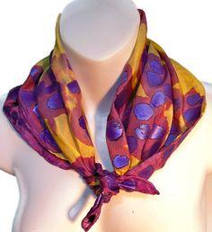 Metallic Purple Royal /  one of a kind by SilkScarvesJoanReese, $50.00