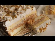 Japanski Vjetar / The Best Fluffy Cream Cake Serbian Recipes, Serbian Food, Torte Cake, Cake Youtube, Pavlova, Cream Cake, Cheesecake, Deserts, Food And Drink