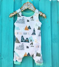Baby Romper, Mountains, One Piece, Romper, Sleeveless Romper for Kids, Toddler Playsuit, Bodysuit, Unisex Clothing, Adventure Awaits by MamisLittleMuse on Etsy