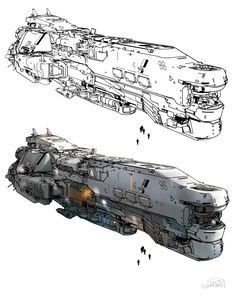 SPARTH - Halo 5 spaceships. 2013-2014 on a side note, i...