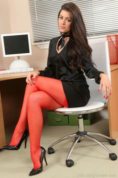 Relaxing legs foot womans heels chair office