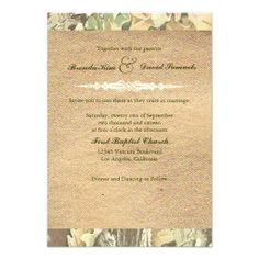 Camo Burlap Wedding Invitation you will get best price offer lowest prices or diccount couponeShoppingOnline Secure Check out Quick and Easy...