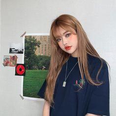Pretty Korean Girls, Cute Korean Girl, Asian Girl, Pretty Makeup, Makeup Looks, Front Bangs, Girl Korea, Uzzlang Girl, Cute Little Things