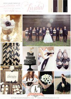 Chic Monochrome Wedding Inspiration Board by @Rose Murphy