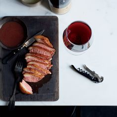 This seared duck gets exceptional flavor from two sauces, yet it's made with only five ingredients. Get the recipe from Food & Wine.
