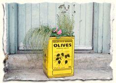 olive tin plant pots - Google Search