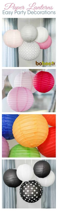 Easily (and affordably) decorate your next party with paper lanterns. These are easy to hang, store away flat and reuse at your next party, and don't break the bank with these party decorations.