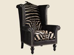 Henry Link Trading Co. Living Room Kings Row Leather Wing Chair LL7760-11BB - Henry Link - Thomasville North Carolina