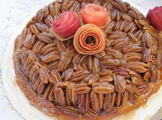 Upside Down Apple Pecan Pie - Really?  An unusual recipe that looks like a winner.