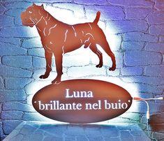 Edelstahlschild nach Vorlage vom eigenem Hund mit Kennel Namen  #cancorso #dogoargentino #dogs #wallsign