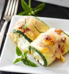 Zucchini Lasagna Rolls | Easy Vegetable Lasagna Recipes | | https://homemaderecipes.com/easy-vegetable-lasagna-recipes/