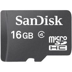 SANDISK SDSDQ-016G-A46 microSD(TM) Memory Card (16GB)