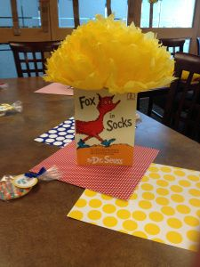 baby shower Centerpiece, Fox in Socks