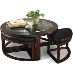 Sierra Coffee Table with Four Ottoman Wedge Stools | The Brick
